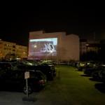 """14 Open Air Screening """"NO, Global Tour"""" von Santiago Sierra, Oranienburger Straße Berlin 2011"""